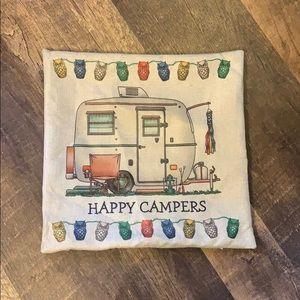 Euc happy camper pillow case. Case only